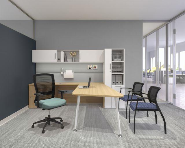 AIS Calibrate L-Shaped Private Office Desk