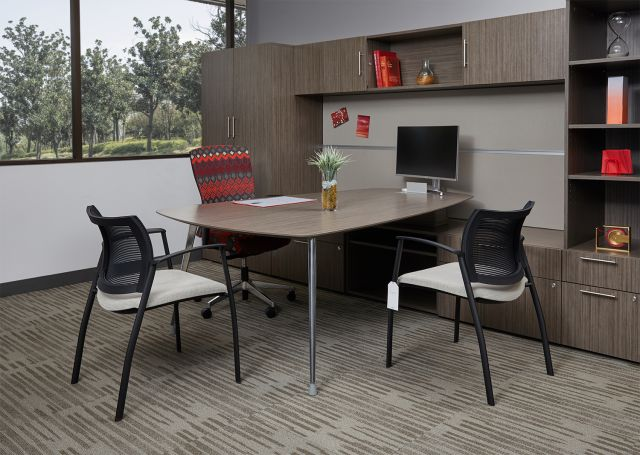 AIS Corporate Showroom Calibrate Series Casegoods Private Office Desk