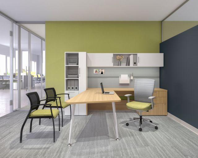 AIS Calibrate Private Casegoods Office Desk