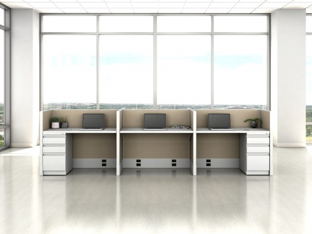 AIS Divi Open Plan Panel System Fast Track Small Workstation
