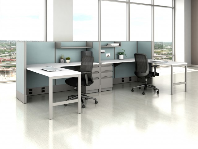 AIS Divi Open Plan Panel System Fast Track Shared Workstation