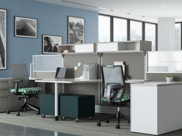 AIS Divi Open Plan Workstation with keytop worksurface
