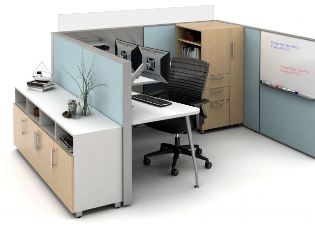 AIS Matrix Open Plan Panel System with whiteboard