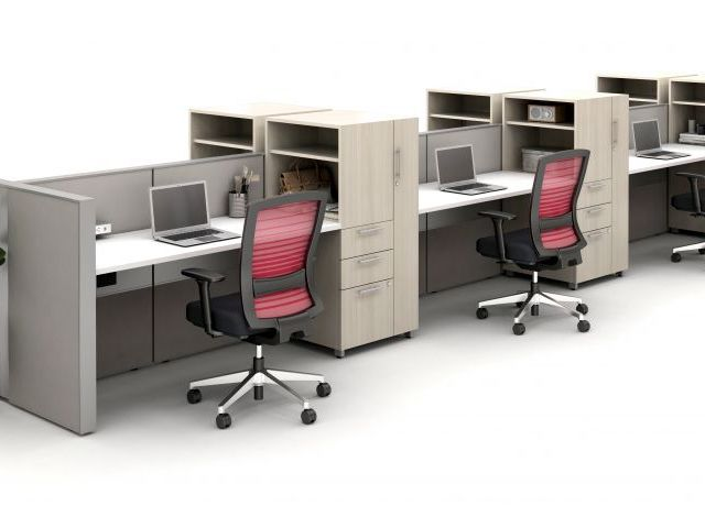AIS Matrix Spine Open Plan Panel System with Calibrate Storage