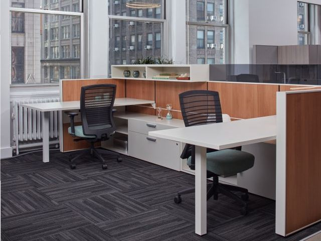 AIS Matrix Panel System with Laminate Tiles and Calibrate Storage Lateral Files