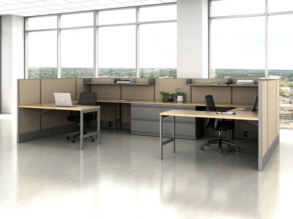AIS Divi Open Plan Panel System Fast Track Large Shared Workstation