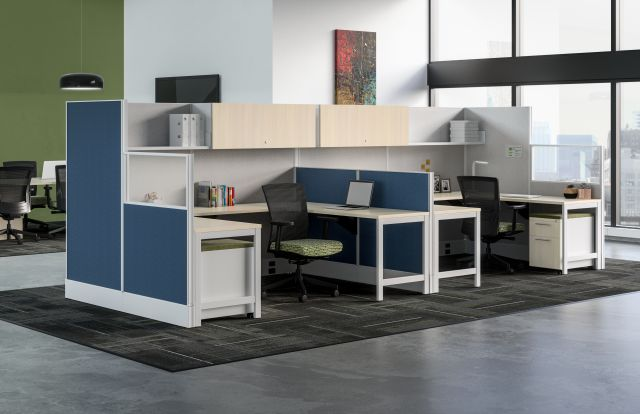 AIS Divi Open Plan Panel System with Dual Workstation