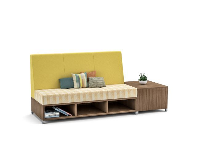 AIS LB Lounge, medium back with end table