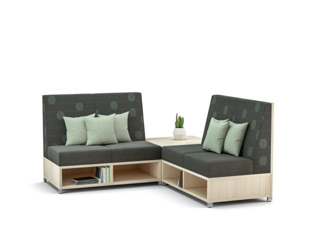 AIS LB Lounge Medium Back Seating with back corner table