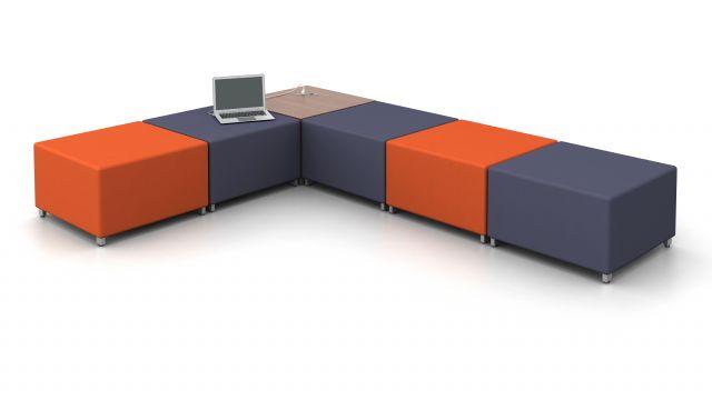 AIS LB Lounge Ottoman and Powered Table