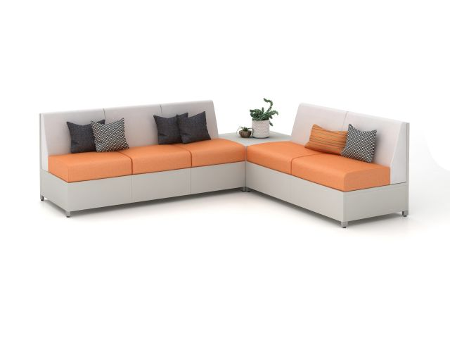 AIS LB Lounge with Solid Base, Medium Back and table
