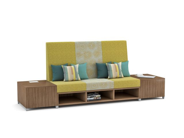 AIS LB Lounge, Highback with powered end tables