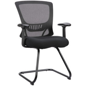 OFD 500G-BLK Mesh It ZAPP Series Sled Base Guest Chair