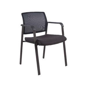 OFD OFD600G-BLK Mesh It 4 Leg Guest Chair