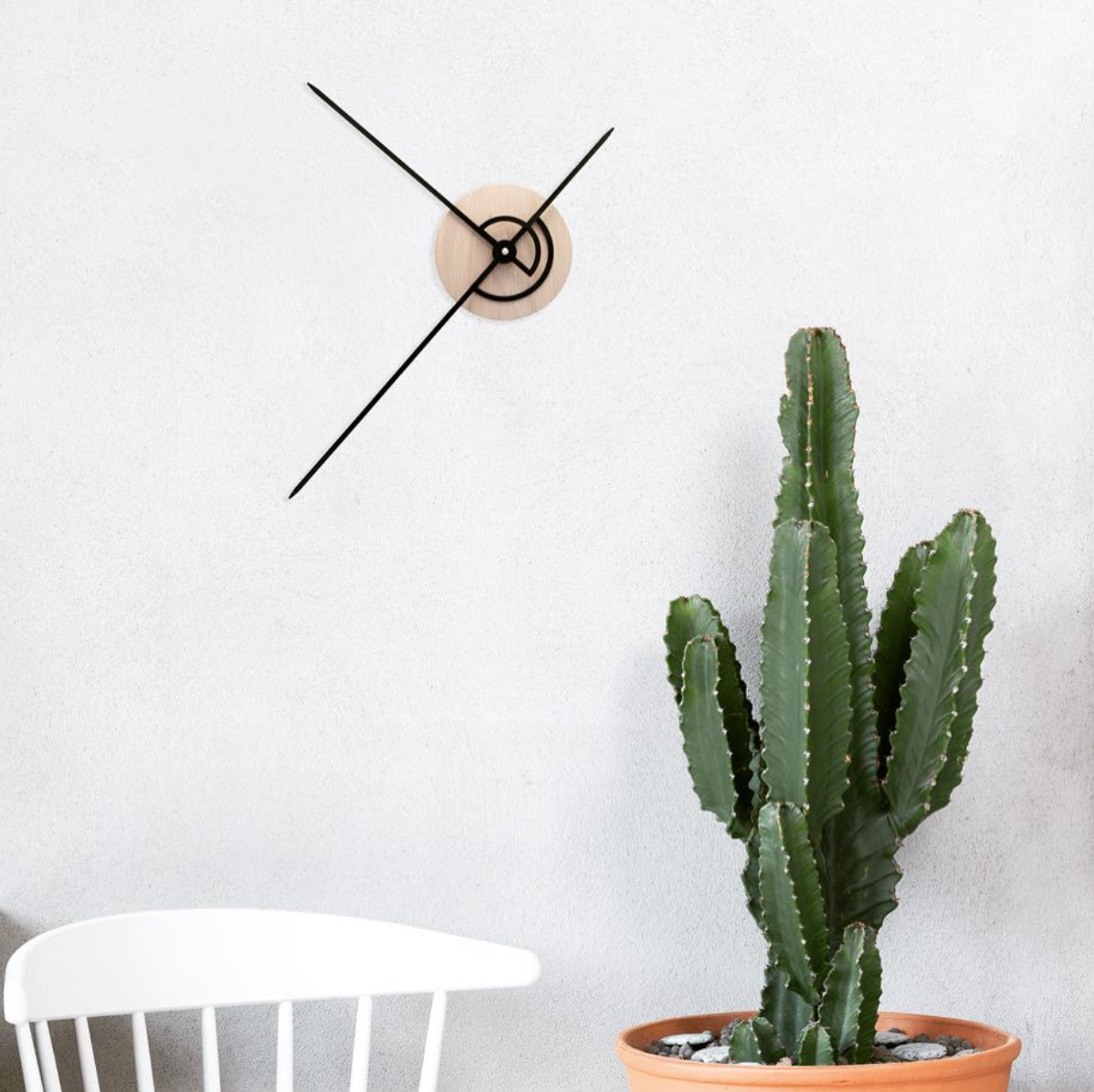 OWB03_Phei Wall Clock_Oak Wood & Black_Lifestyle Image.png