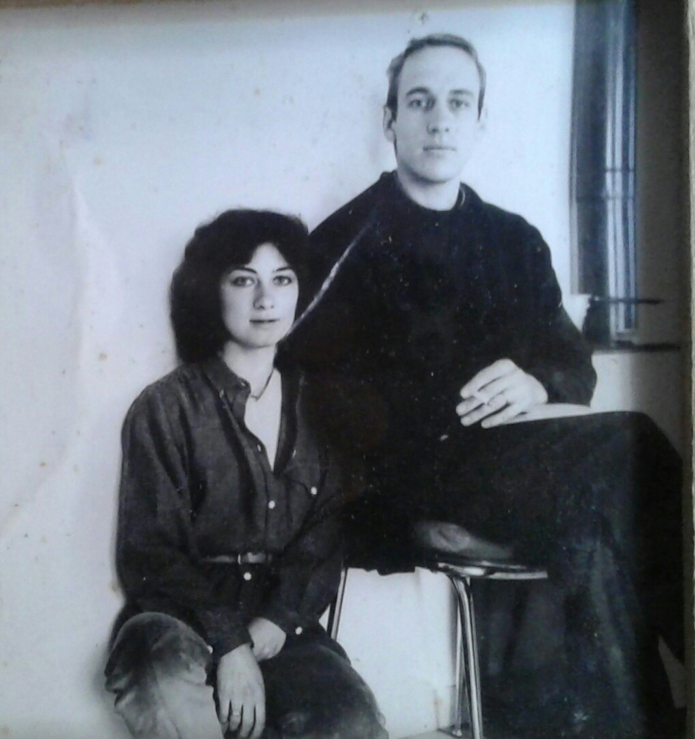 Simon and Giovanna in Perugia (Italy) in 1979.