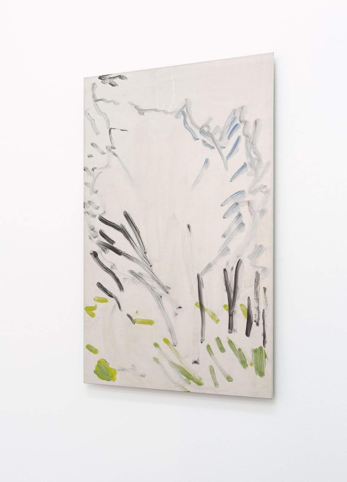 Untitled (Pines) , 2017, oil on aluminium, 40 x 60cm. Photo by C. Capurro