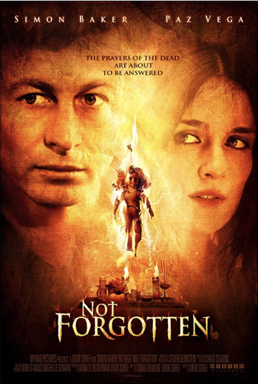 Not Forgotten   Nominated for a     Saturn Award   by the Academy of Science Fiction, Fantasy and Horror  Selected for a Special Screening at the     Slamdance Film Festival