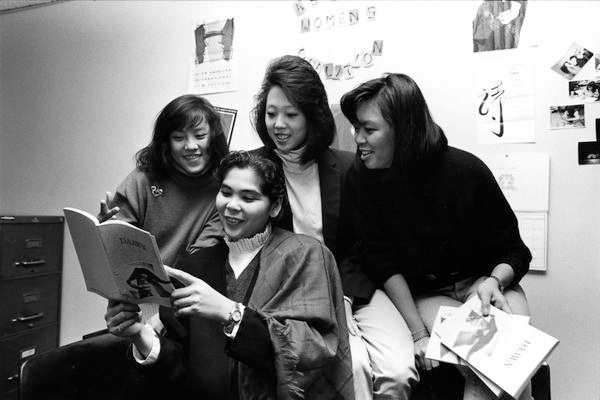Asian Women's Coalition:DAAWN student group 1986.jpg