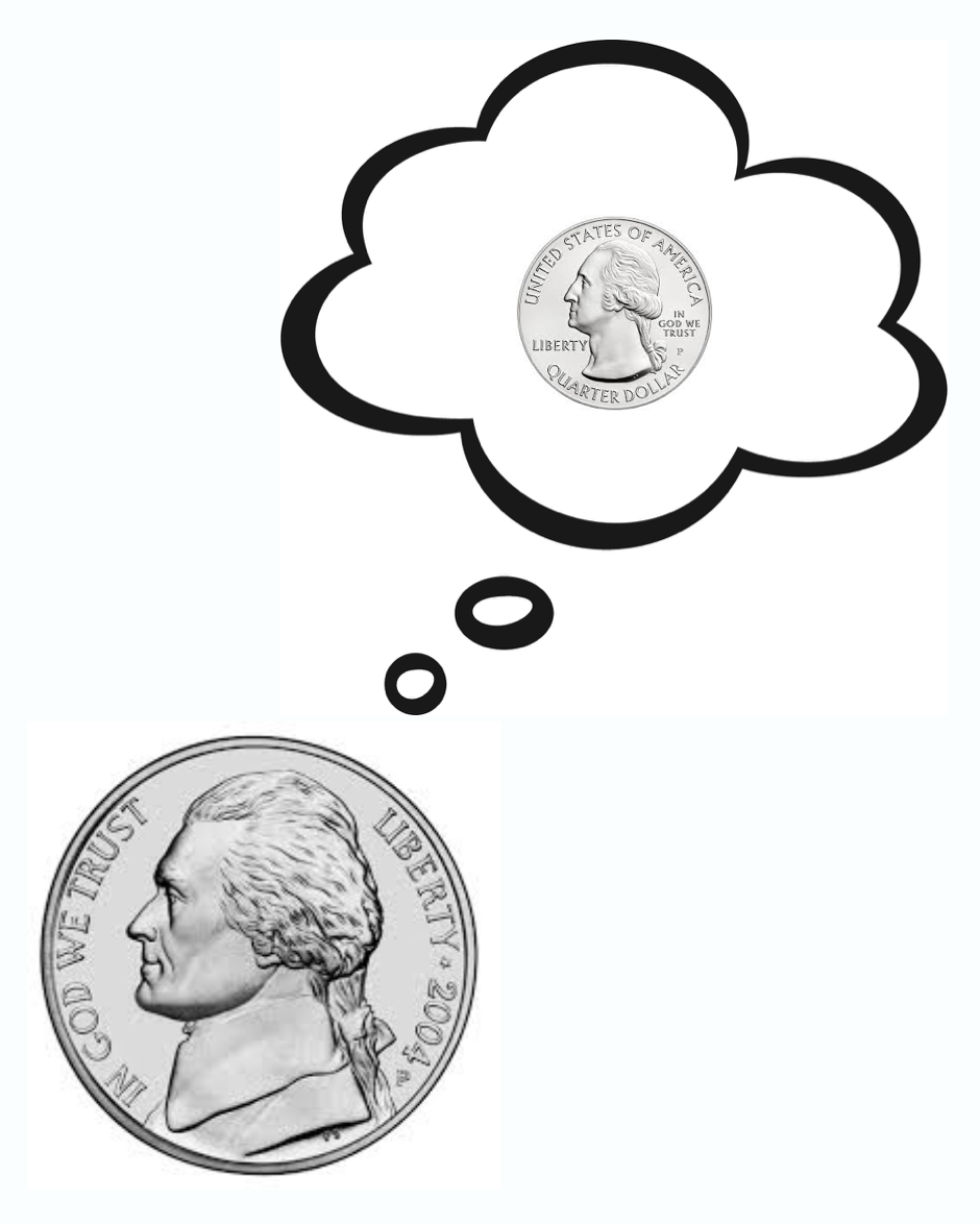 Fig 1. Nickel dreaming of being a quarter.