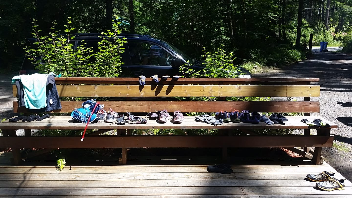 shoes on cabin bench.jpg