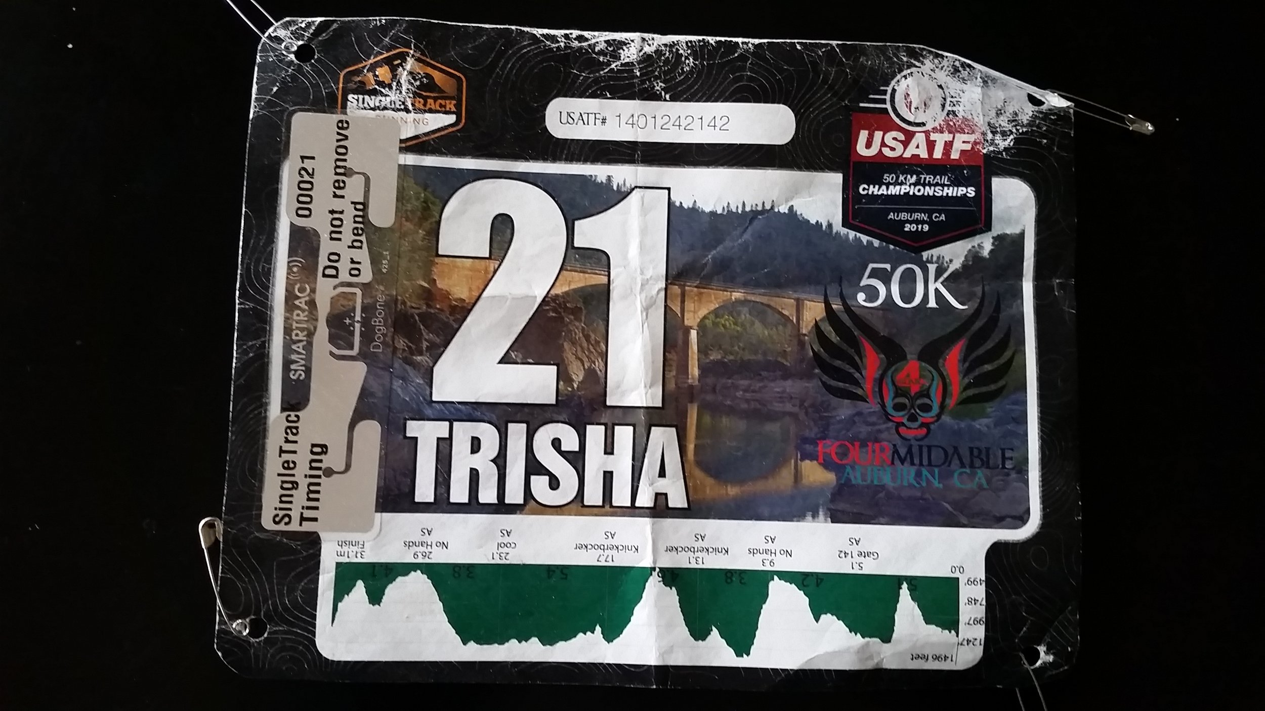 Sweet race bib
