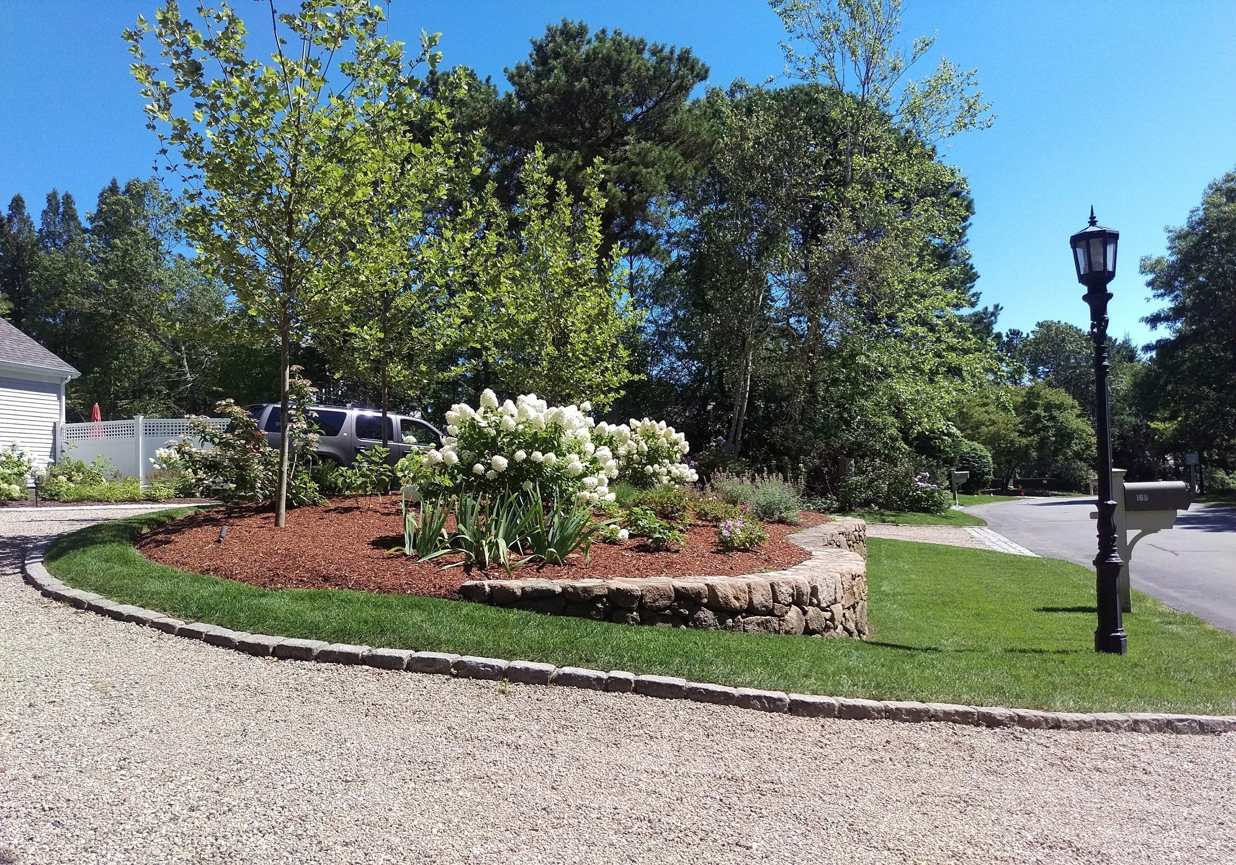 Willowbend Driveway Garden (Before)