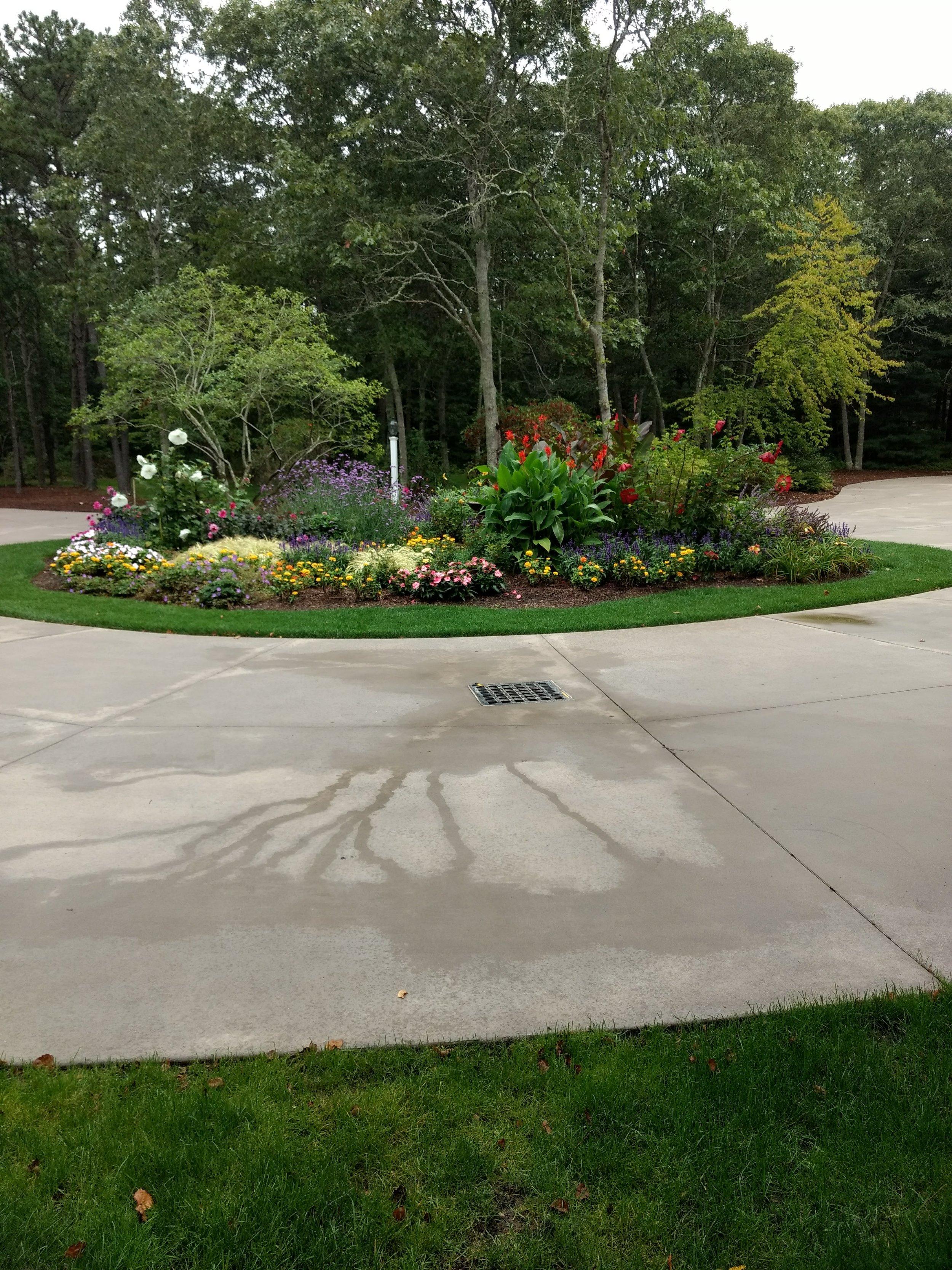 Driveway Island Garden