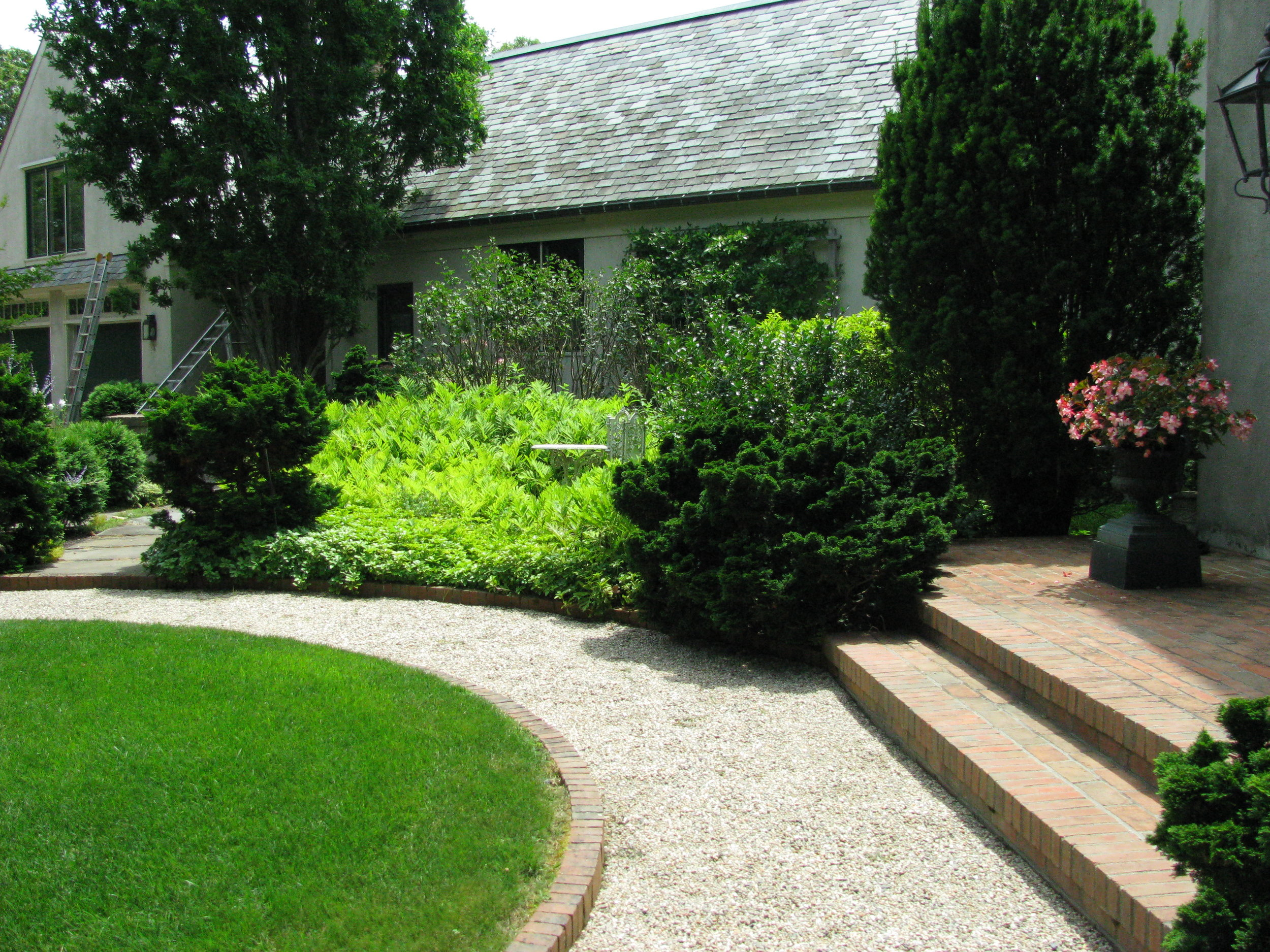 Osterville Entry Seating Garden Renovation (Before)