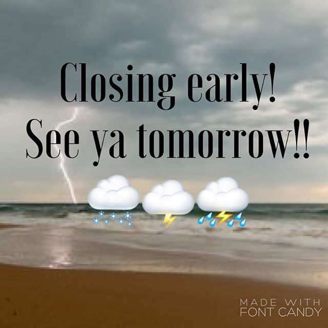 It's raining it's pouring.... see ya tomorrow! 🌨⛈🌨 #Ptpleasantbeach #rainraingoaway #ediblecookiedough