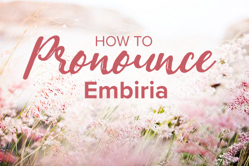 Em • bee • rhi • ah - DEFINITIONA word originating from the Greek language, meaning 'Experience''.