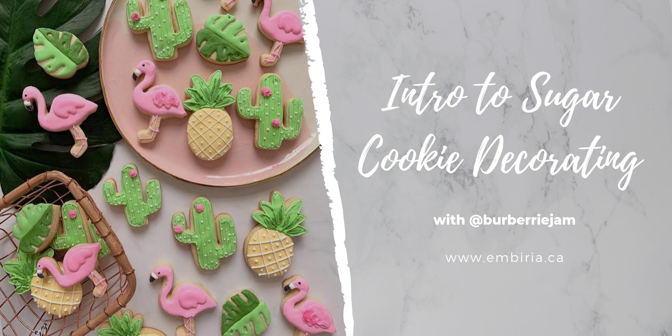 intro to sugar cookie decorating class toronto
