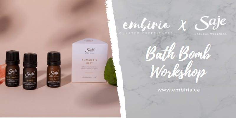 bath bomb workshop saje toronto