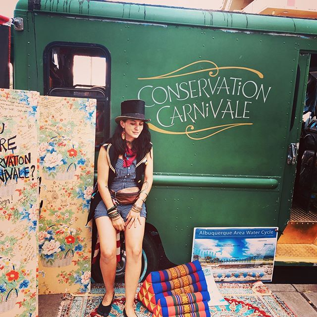 Woohoo Conservation Carnivale at the climate strike!