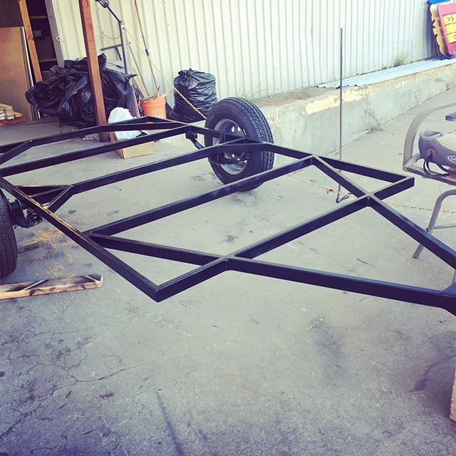 Tear drop coming along (trailer fabbed by Nate)