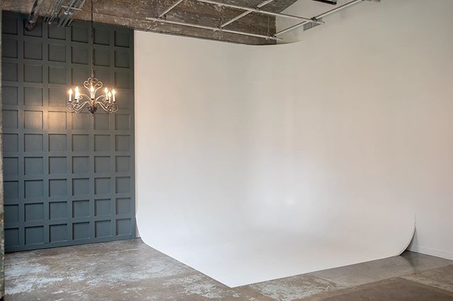Fashion Forward! We have a cyclorama wall for those of you who need to keep your products up to date or you may just want a blank slate to create your next editorial!