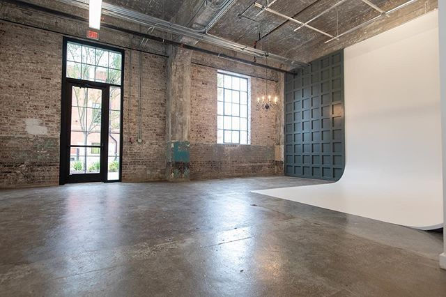 We are located in Historic @theelectricdepot The space also features the original brick walls, concrete floors and 15 ft industrial ceilings along with many upgrades to give you options for your shoot or event.