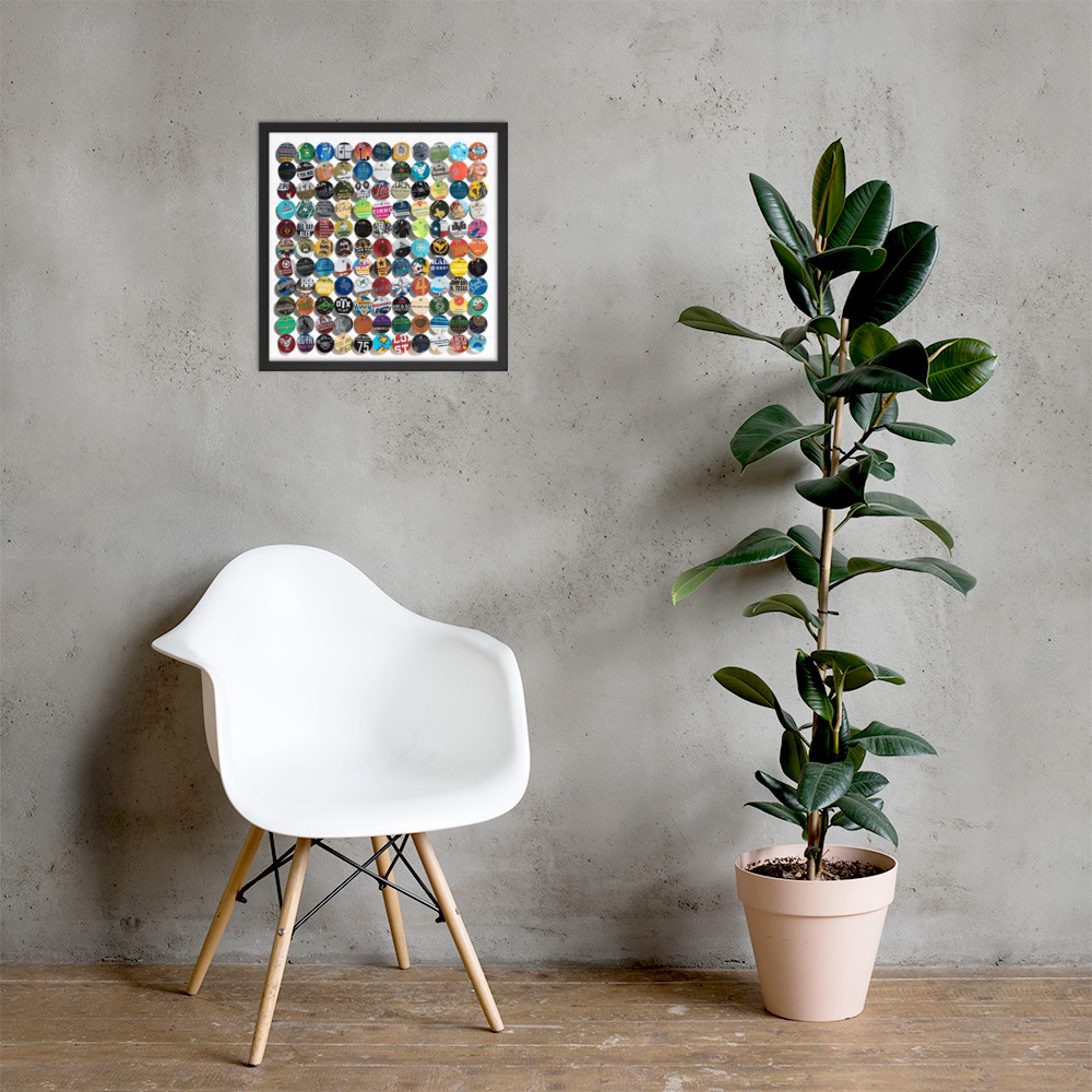 18x18 Framed - $52