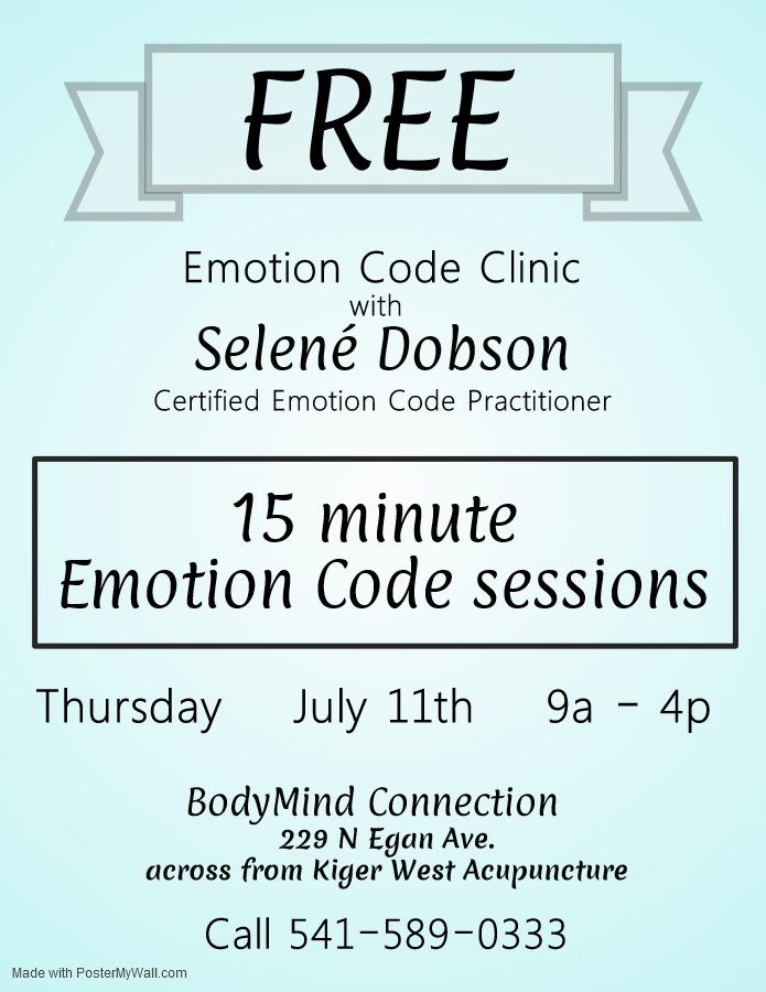 BMC free Emotion Code clinic July 2019.jpg