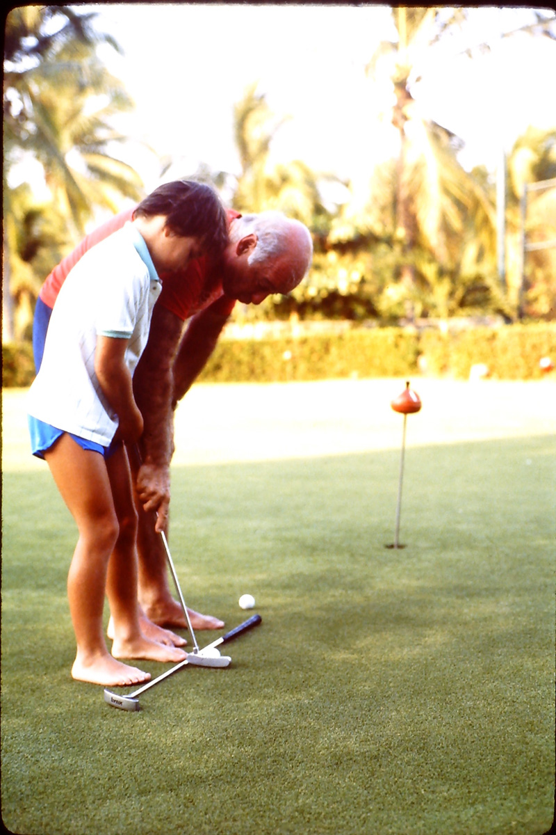 golf practice with my dad