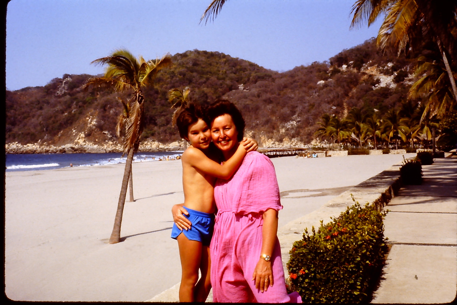 with my mom in Acapulco, Mexico