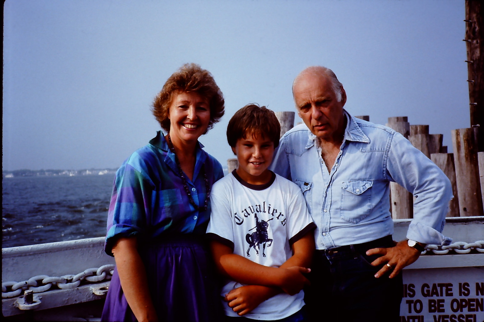 with my parents on the ferry