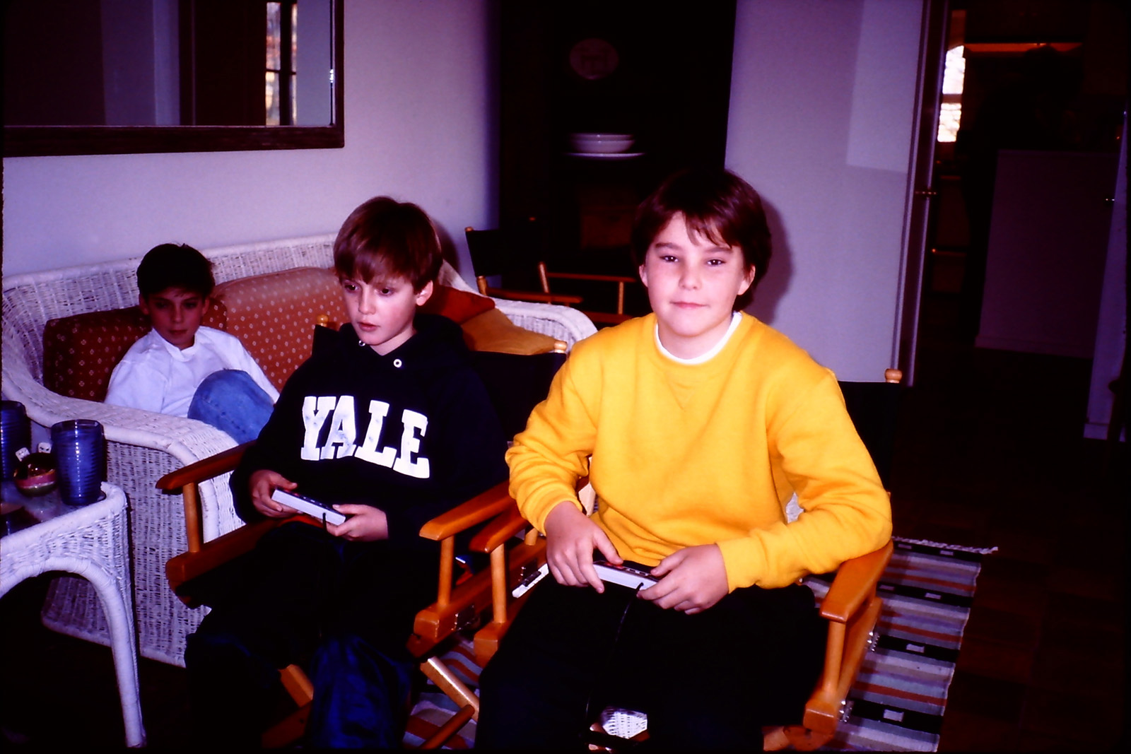 playing Nintendo with friends