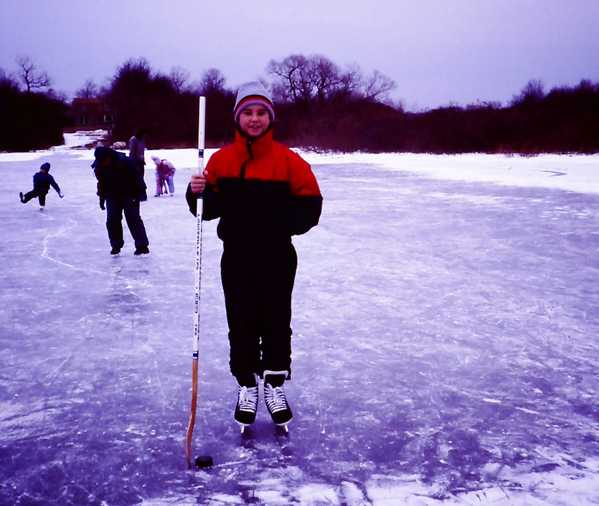 my one attempt at playing ice hockey