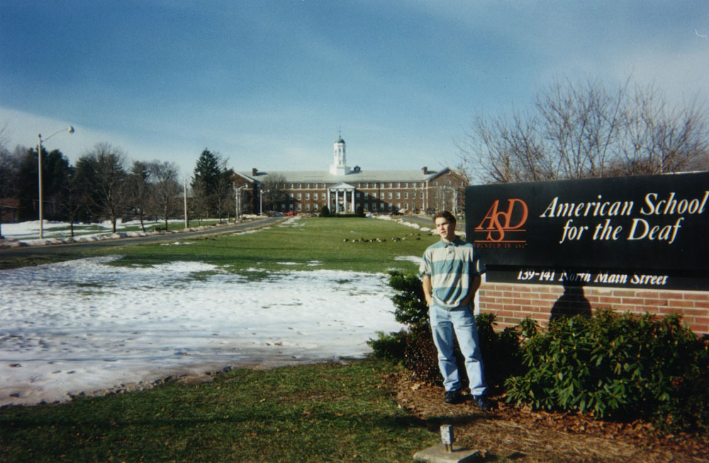 last day as an intern at the American School for the Deaf