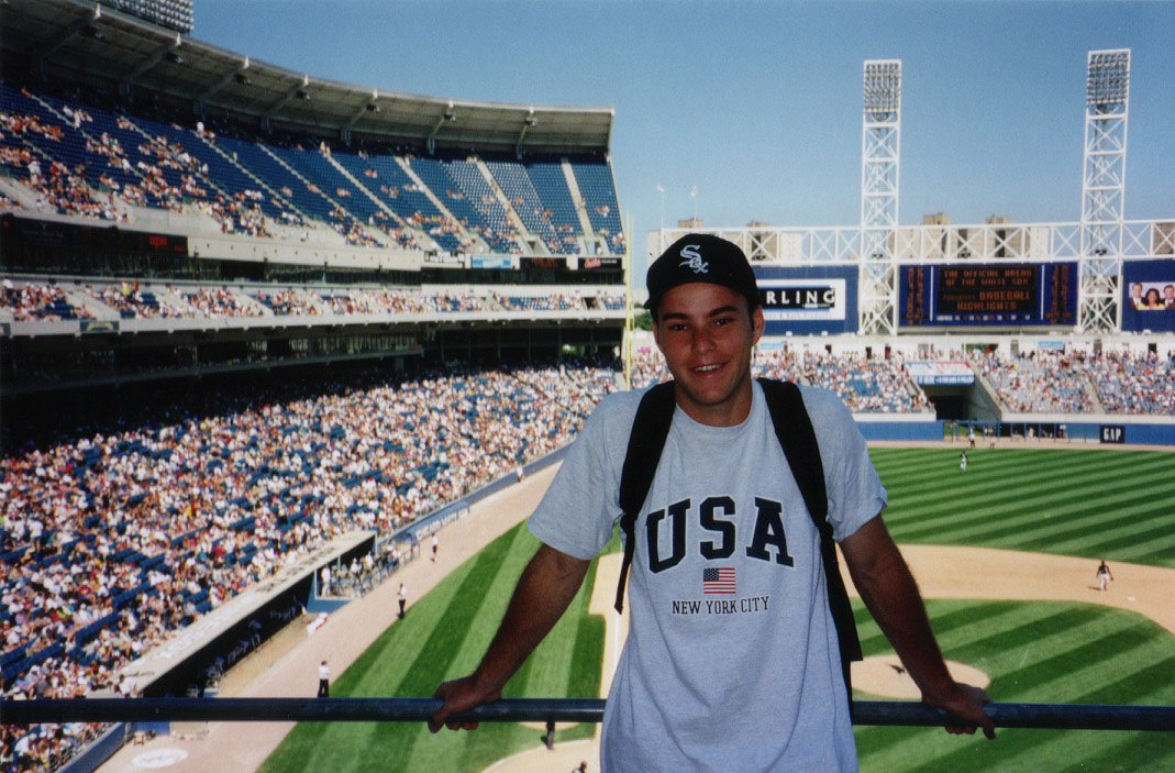 at Comiskey Park