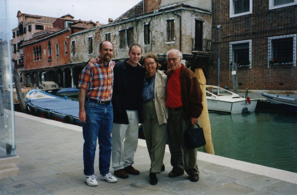 with Joe and my parents in Venice