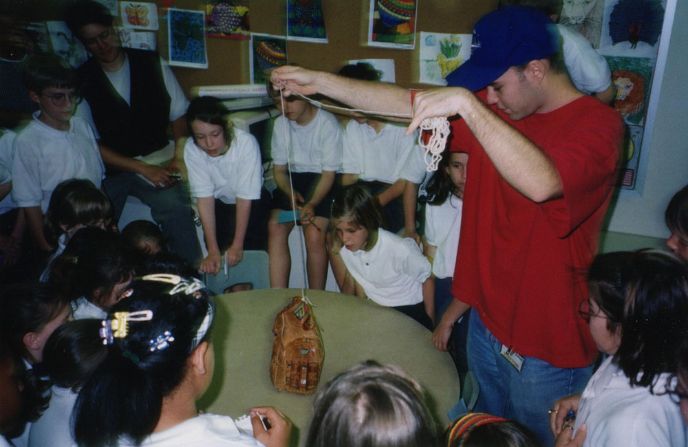 """teaching kids how to snag baseballs with the """"glove trick"""""""