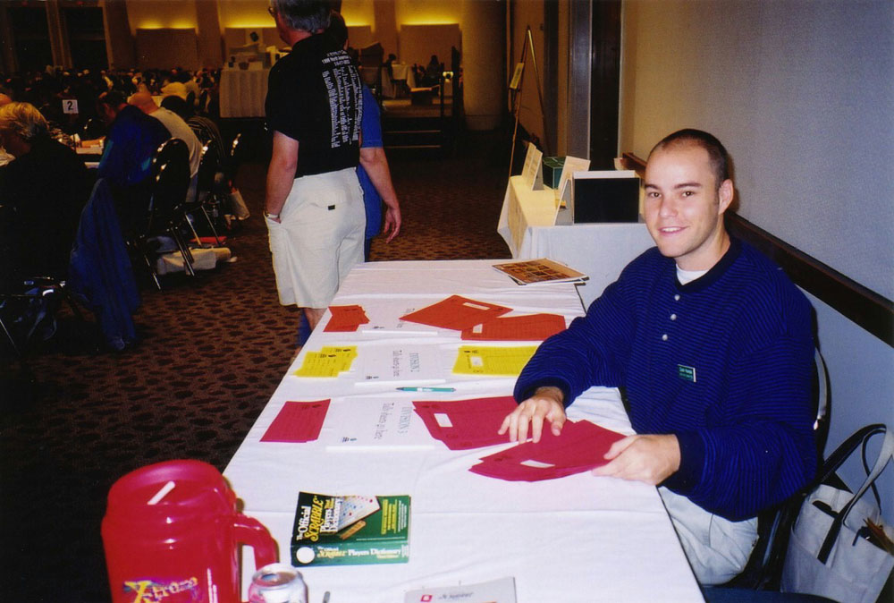 working at the National Scrabble Championship in Providence