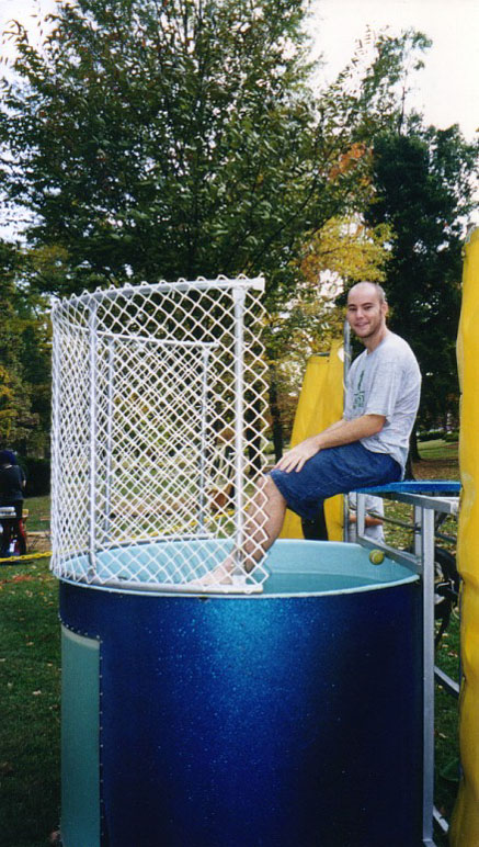 about to get dunked